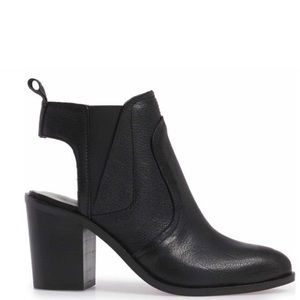 1.State Black Genuine Leather Booties Size 8